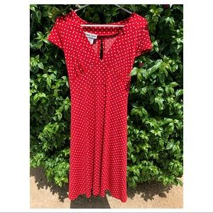Retro Red & White Polk-a-Dot Dress